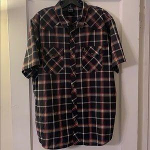 Vintage The North Face Short Sleeve Cowboy Shirt